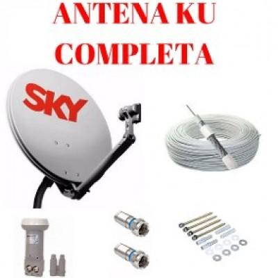 Kit 2 Antenas Ku 60cm Completa Cabo Lnb Duplo
