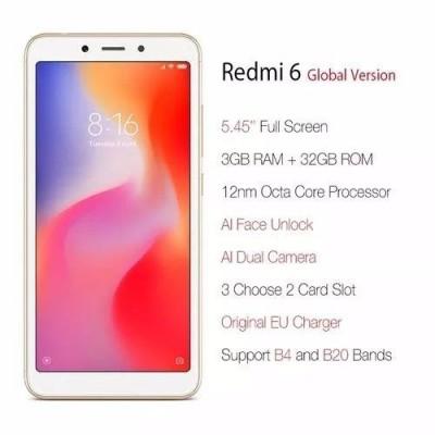 Celular Xiaomi Redmi 6 32GB Dual 4G 3 RAM Lte 5.45