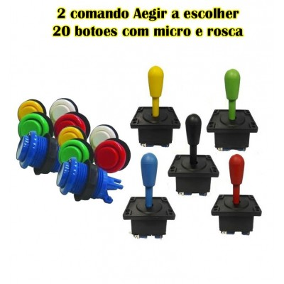 kit 20 botoes aegir + 2 comandos aegir