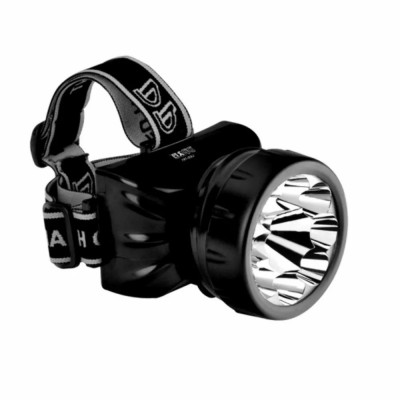 Lanterna De Cabeça 9 Leds Recarregável Dp 781b / Caça Pesca